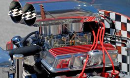 Custom hot rod car engine Royalty Free Stock Photos