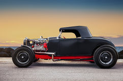 Custom Hot Rod. Old Custom Hot Rod on the sunset Royalty Free Stock Images
