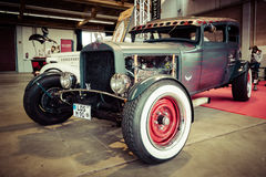Custom Hot Rod. PAAREN IM GLIEN, GERMANY - MAY 23, 2015: Custom Hot Rod. Stylization. Vintage toning. The oldtimer show in MAFZ Stock Photos