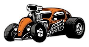 Custom hotrod car with big engine Royalty Free Stock Photo