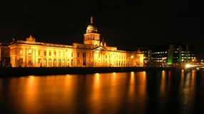 The Custom House. A neoclassical 18th century building in Dublin, on the north bank of the River Liffey Royalty Free Stock Images