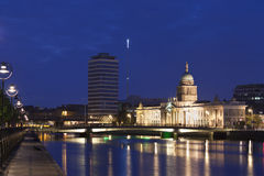 Custom house in blue hours Royalty Free Stock Images