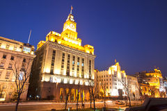 Custom house at bund of Shanghai 2 Royalty Free Stock Photo