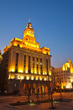 Custom house at bund of Shanghai Stock Image