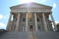 Custom House. Columns of a legal building Royalty Free Stock Photo