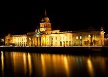 The Custom House Dublin. Nightshot taken of the Custom House of Dublin Ireland Stock Photos