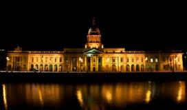 The Custom House Dublin. Nightshot taken of the Custom House of Dublin Ireland Royalty Free Stock Photo