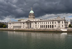 Custom House Dublin. Dublins Custom House skyline with river Liffey Royalty Free Stock Images