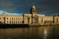 The Custom House- Dublin. The Custom House is often considered architecturally the most important building in Dublin and is sited on the river(Liffey) front with stock image