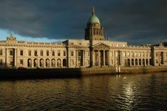 The Custom House- Dublin stock image