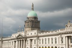 Custom House Dublin. Dublins Custom House skyline, with Liberty hall behind it, a Dublin Landmark Stock Images