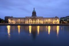 Custom House in Dublin Ireland. Seen from across the river Liffey Stock Image