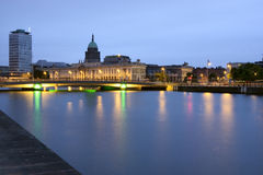 Custom House in Dublin Ireland. Seen from across the river Liffey Royalty Free Stock Images