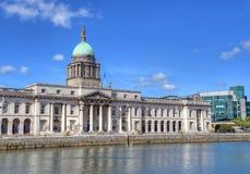 The Custom House in Dublin, Ireland. The Custom House across the River Liffey in Dublin, Ireland Royalty Free Stock Photo