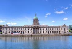The Custom House in Dublin, Ireland. The Custom House across the River Liffey in Dublin, Ireland Stock Photos