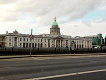 The Custom House in Dublin, Ireland. The Custom House, a famous building in Dublin, Ireland. This Irish landmark is a working government building and built with Stock Images