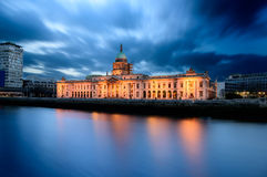 Custom House Dublin Ireland. Custom House is a goverment building in Dublin Ireland located on the banks of river Liffey Royalty Free Stock Photography