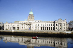 The Custom House, Dublin - Ireland. The Custom House is a neoclassical 18th century building in Dublin, Ireland. Which houses the Department of the Environment Royalty Free Stock Photography