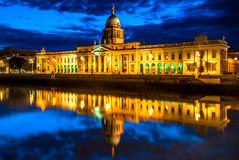 Custom House in Dublin, Ireland. The Custom House is a neoclassical 18th century building in Dublin which houses the Department of the Environment, Heritage and Royalty Free Stock Photos
