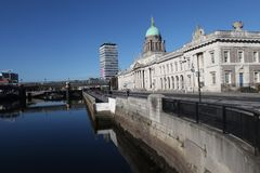 Custom House in Dublin royalty free stock photo
