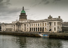 The Custom House in Dublin stock photography