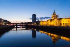 Custom House - Dublin. The Custom House is a neoclassical 18th-century building in Dublin, Ireland Stock Photo