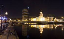Custom house ,Dublin by night Royalty Free Stock Photos