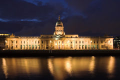 Custom House at Dusk Stock Photo