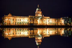 Custom house at night Royalty Free Stock Image