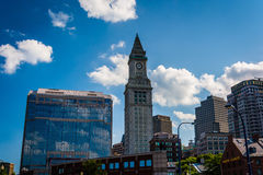 The Custom House Tower and other buildings in Boston, Massachuse Royalty Free Stock Image