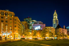 The Custom House Tower and Rose Fitzgerald Kennedy Greenway at n Stock Images