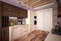 Custom Kitchen Royalty Free Stock Image