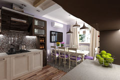 Custom Kitchen Stock Images