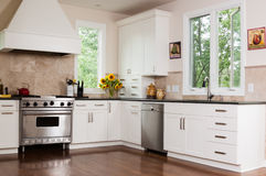 Custom Kitchen. Upscale kitchen in a modern home Royalty Free Stock Images