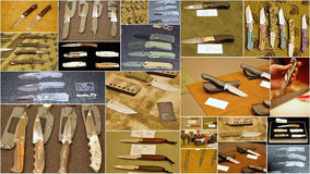 Custom knife show 2015 in jersey city usa. Featuring the world's top knife makers the show in Jersey  attracted attention of many people from different states of Stock Photography