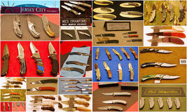 Custom knife show 2015 in jersey city usa. Featuring the world's top knife makers the show in Jersey  attracted attention of many people from different states of Royalty Free Stock Images