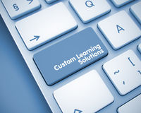 Custom Learning Solutions. Keyboard Button. 3D Royalty Free Stock Photography
