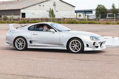 Custom light gray metallic Toyota Supra SZ car Royalty Free Stock Photo