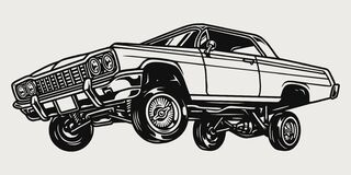 Free Custom Lowrider Retro Car Vintage Concept Royalty Free Stock Photo - 217376365