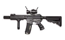 Custom M4A1 assault carbine Stock Photos
