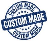 Custom made blue stamp. Custom made blue grunge round stamp isolated on white background Royalty Free Stock Image