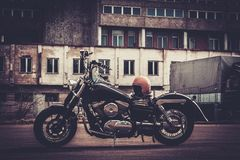 Custom made bobber motorcycle Stock Photos