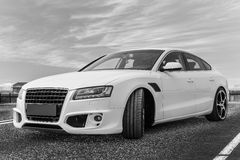 Custom made car. Modern sports custom made car royalty free stock photos