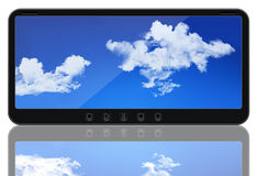 Custom made futuristic media player. Isolated on white background. This model does NOT exist Royalty Free Stock Photos