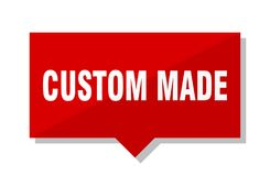 Custom made price tag. Custom made red square price tag Stock Photography