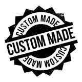 Custom Made rubber stamp. Grunge design with dust scratches. Effects can be easily removed for a clean, crisp look. Color is easily changed Stock Photo