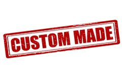 Custom made. Rubber stamp with text custom made inside,  illustration Royalty Free Stock Image