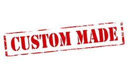Custom made. Rubber stamp with text custom made inside,  illustration Stock Images