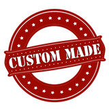 Custom made. Rubber stamp with text custom made inside,  illustration Stock Photo