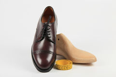 Custom made shoes. Shoes - high quality footwear made to your measures Stock Images